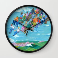 Plane Without Plane Wall Clock