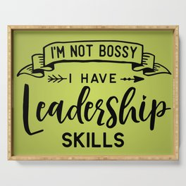 I'm Not Bossy Serving Tray