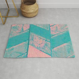 370 12 Pink and Blue Rug
