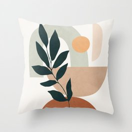 Soft Shapes IV Throw Pillow