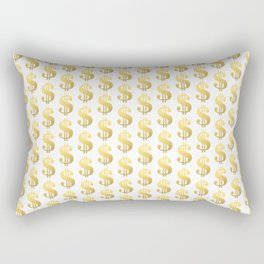 Gold Money - modern sparkle gold foil trendy hipster urban beach summer fresh pattern money sign  Rectangular Pillow