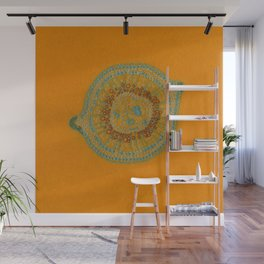 Growing - hypericum - plant cell embroidery Wall Mural
