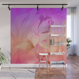The Beauty Of Cacti And Flowers Wall Mural