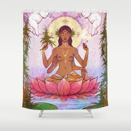 Ganja Goddess Shower Curtain