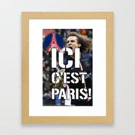Ici c'est Paris! colors urban fashion culture Jacob's 1968 Paris Agency for David Lui psg supporters Framed Art Print