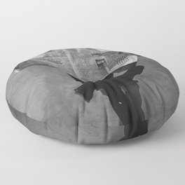 News on Fire (Baclk and White) Floor Pillow