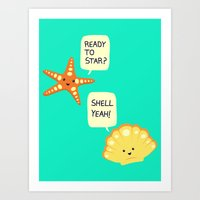 motivational Art Prints featuring Motivational Beach! by AnishaCreations