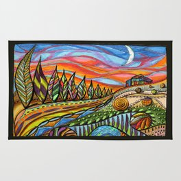 Tuscan sunset Rug