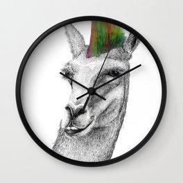 Llamahawk Wall Clock