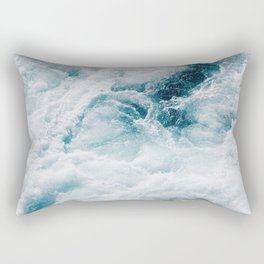 sea - midnight blue storm Rectangular Pillow