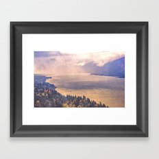 Forest River Water - Cape Horn Washington Columbia River Gorge Framed Art Print