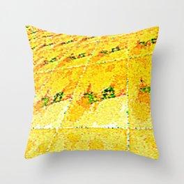 Digital Oasis Throw Pillow