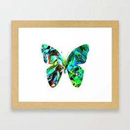 Fluid Butterfly  Framed Art Print
