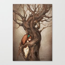 I love you, Old Tree! Canvas Print