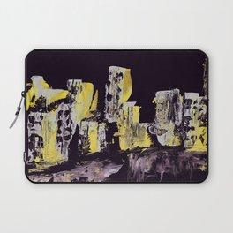 Yellow Purple Cityscape Laptop Sleeve