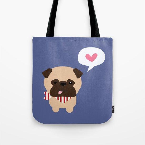 Pancho the Pug Tote Bag