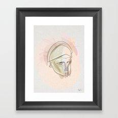 One line Theseus Framed Art Print
