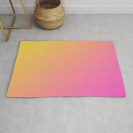Yellow and Bright Pink Gradient Ombre Abstract Rug