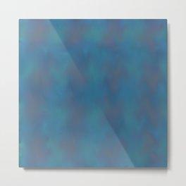 Soft Blue Metal Print