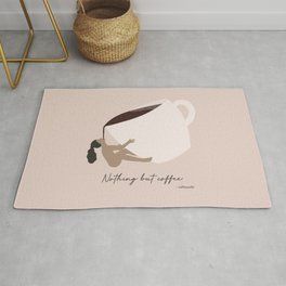 Nothing but coffee Rug