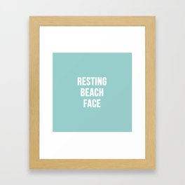 Resting Beach Face Framed Art Print
