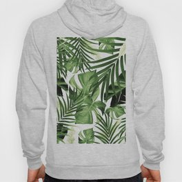 Tropical Jungle Leaves Pattern #12 #tropical #decor #art #society6 Hoody