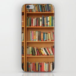 Bookshelf Books Library Bookworm Reading iPhone Skin