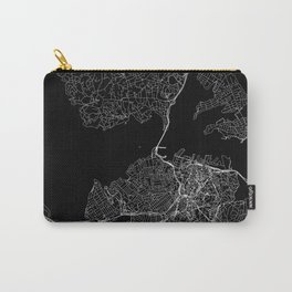 Aukland Black Map Carry-All Pouch