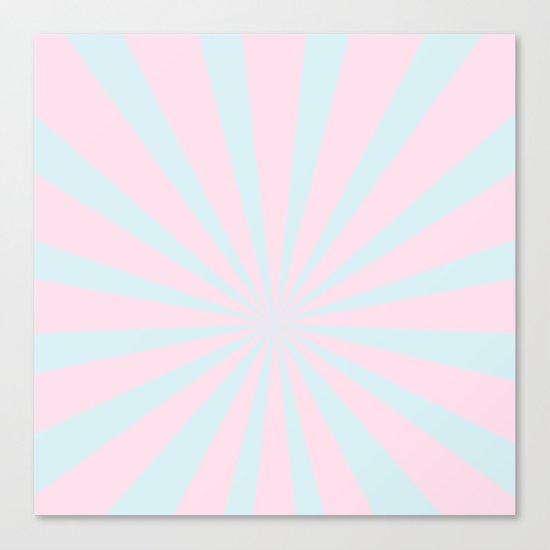 Starbust 60's pastel-Pink Aqua geometric Pattern Canvas Print