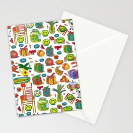 NEY YEAR PATTERN Stationery Cards