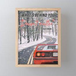 Love Car Love Car EF F40 Quote Framed Mini Art Print