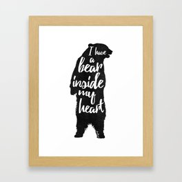 Bear Heart Framed Art Print