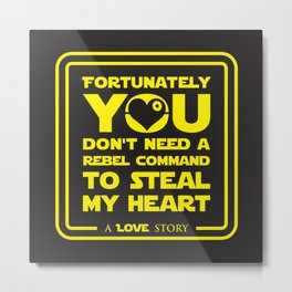 You dont need a rebel command Metal Print