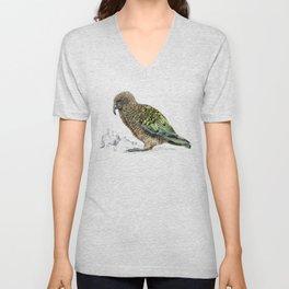 Mr Kea, New Zealand parrot Unisex V-Neck