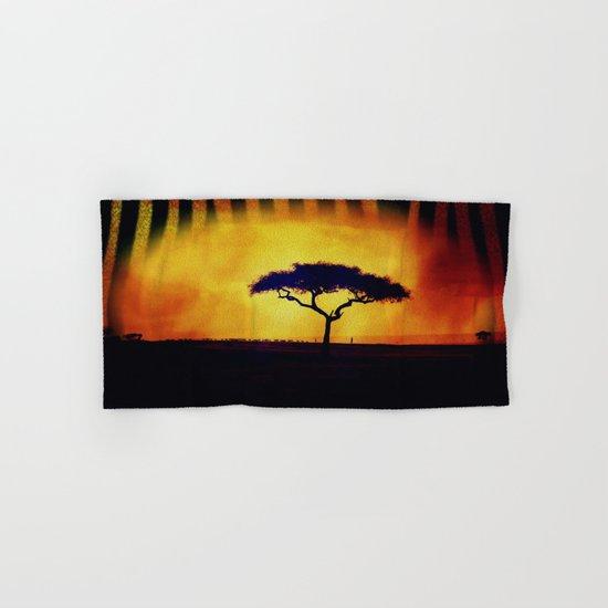 African Farmers Sunset Zebra Hand & Bath Towel