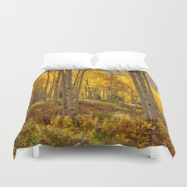 Autumn Aspen Forest Aspen Colorado Duvet Cover