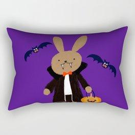 halloween dracula and bat  Rectangular Pillow