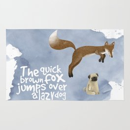 The quick brown fox jumps over a lazy dog Rug