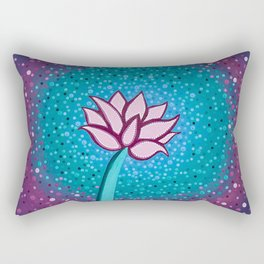 You Can and You Will - Lotus Rectangular Pillow