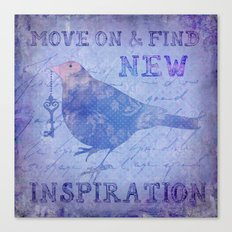 Bird collage inspirational Quote Canvas Print