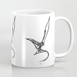 Swallow 1.Black on white background. (ZOOM) Coffee Mug