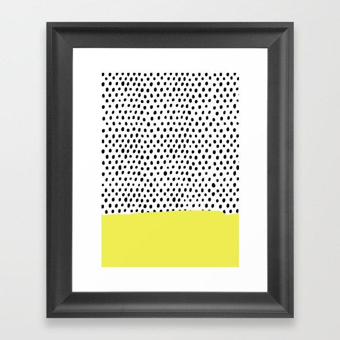 Polka Dot Rain Dip Framed Art Print By Maikonagao Society6