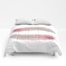 Soft Pink Feather Kisses Comforters