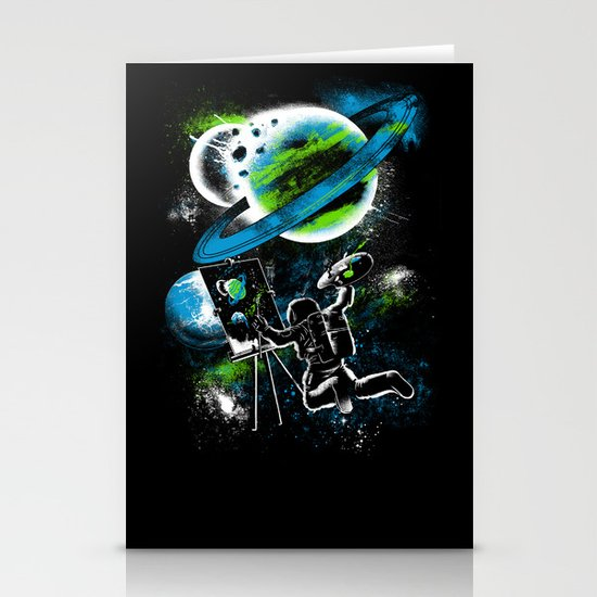 space Painting Stationery Cards