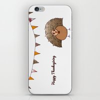 thanksgiving iPhone & iPod Skins featuring Happy Thanksgiving by Mrs Ricefield