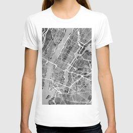 New York City Street Map T-shirt