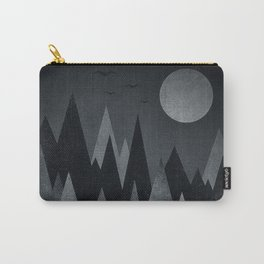 Dark Mystery Abstract Geometric Triangle Peak Wood's (black & white) Carry-All Pouch