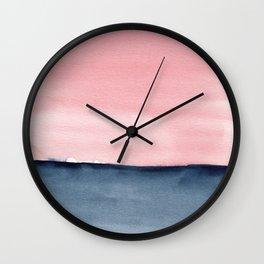 Pink Indigo Abstract No. 1 Wall Clock