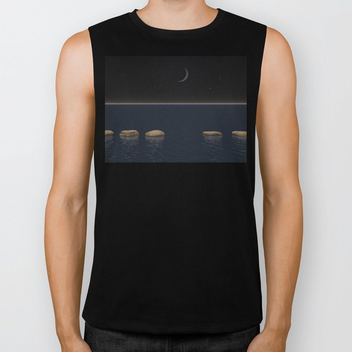 One Giant Leap For Mankind Biker Tank