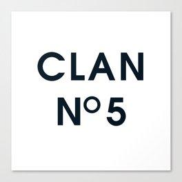 CLAN No 5 Canvas Print